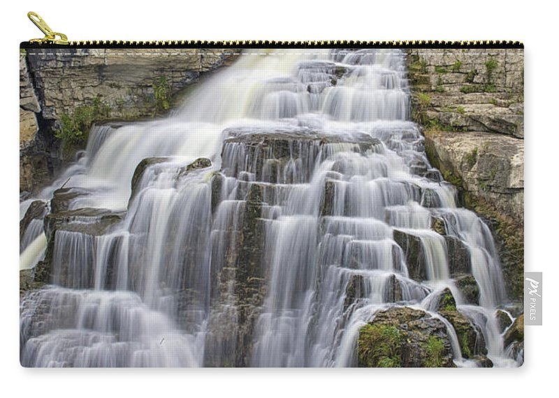 Canvas Carry-all Pouch featuring the photograph Inglis Falls by Phill Doherty