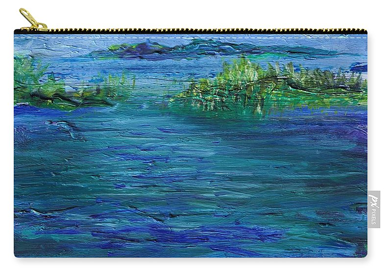 Water Carry-all Pouch featuring the painting Inlet by Regina Valluzzi