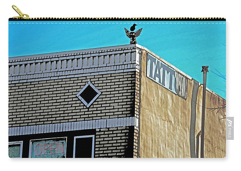Inner City Carry-all Pouch featuring the photograph Inner City by Bill Owen