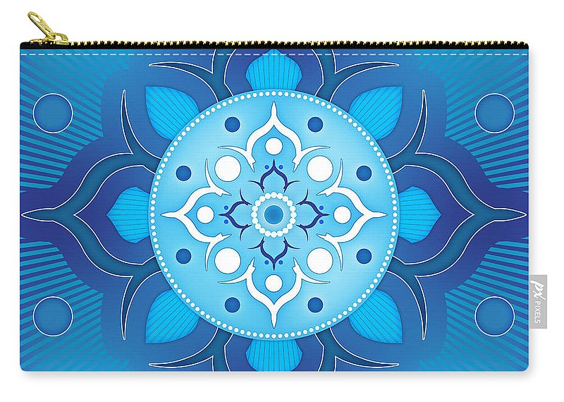 Inner Carry-all Pouch featuring the digital art Inner Guidance - Blue Version by Soul Structures