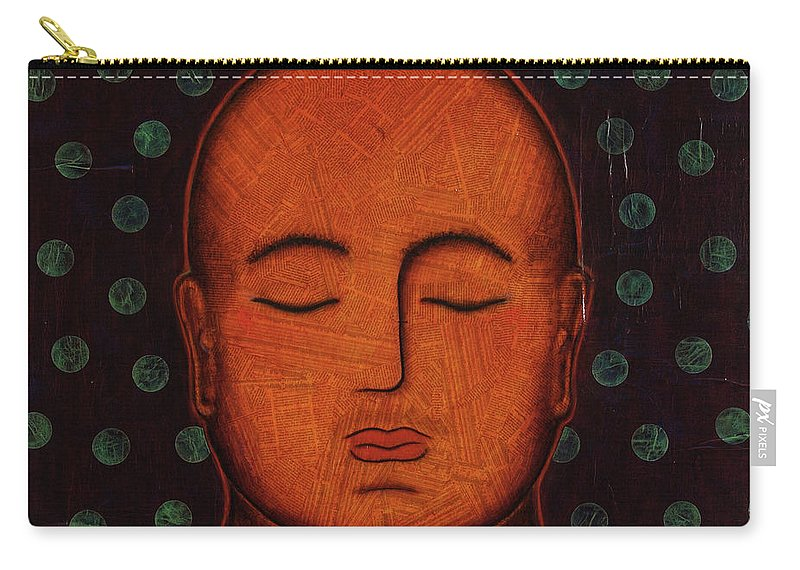 Buddha Carry-all Pouch featuring the painting Inner Visions by Gloria Rothrock