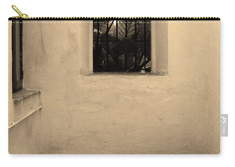Room Carry-all Pouch featuring the photograph Inside Looking Out At The Alcazar In Spain by Greg Matchick