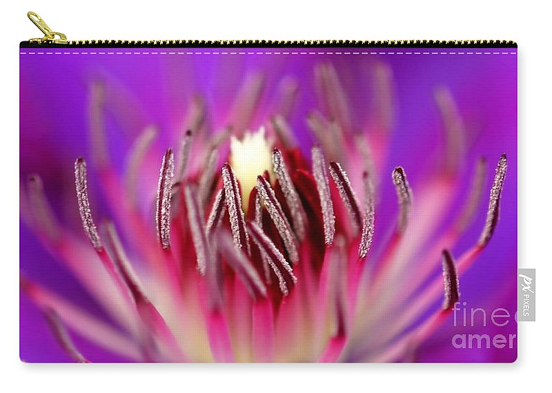 Beautiful Carry-all Pouch featuring the photograph Inside Of A Flower by Henrik Lehnerer