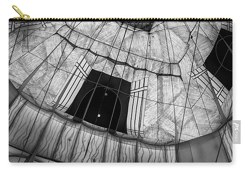 Hot Air Balloon Carry-all Pouch featuring the photograph Inside The Balloon Two by Bob Orsillo