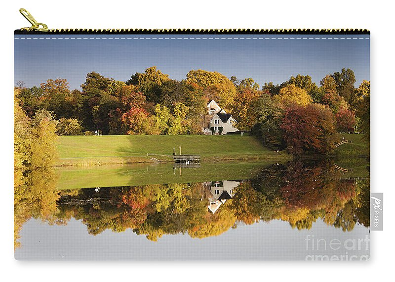 Autumn Carry-all Pouch featuring the photograph Inspiration Lake In Autumn by Thomas Marchessault