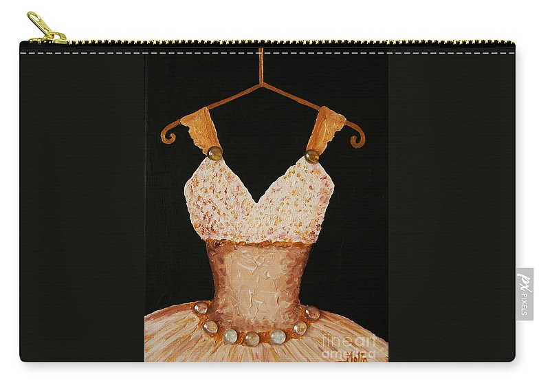 Ballet Carry-all Pouch featuring the painting Instant Princess by Cris Motta