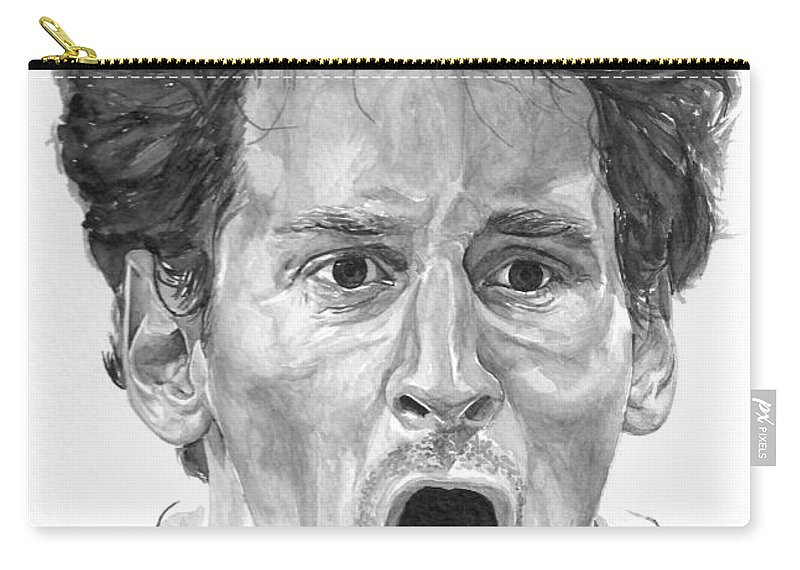 Soccer Carry-all Pouch featuring the painting Intensity Lionel Messi by Tamir Barkan