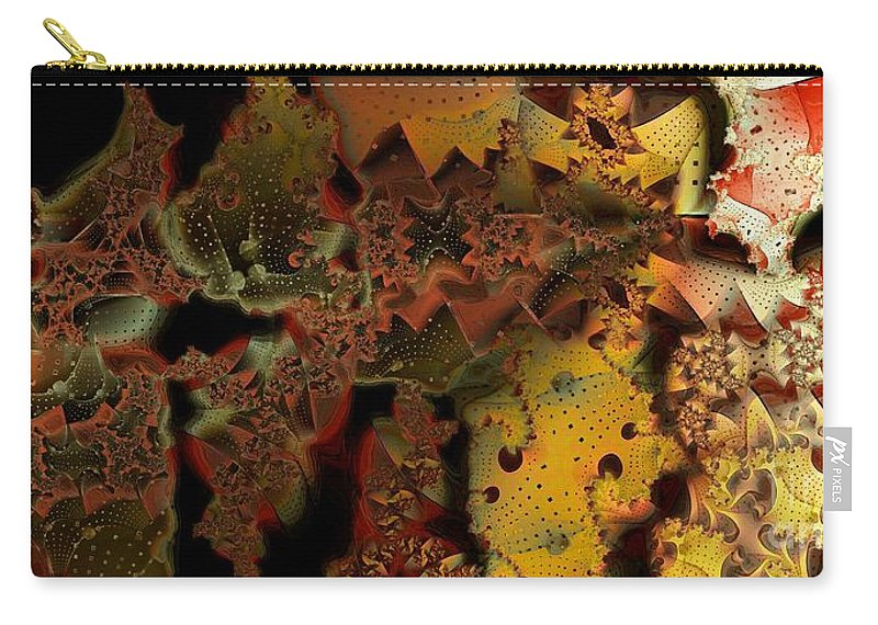 Abstract Carry-all Pouch featuring the digital art Into The Light by Ron Bissett
