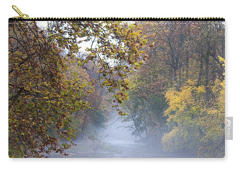 Into The Mist Carry-all Pouch featuring the photograph Into The Mist by Bill Cannon