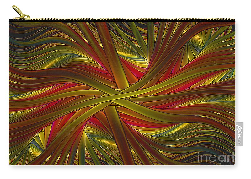 Fractal Carry-all Pouch featuring the digital art Into The Web by Deborah Benoit