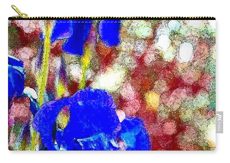 Floral Carry-all Pouch featuring the photograph Iris 19 by Pamela Cooper