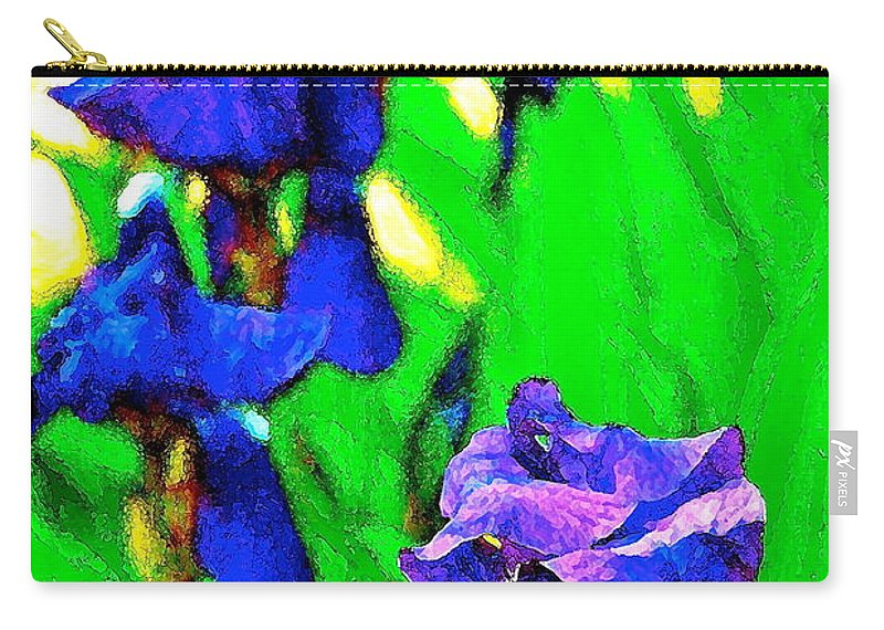 Floral Carry-all Pouch featuring the photograph Iris 20 by Pamela Cooper