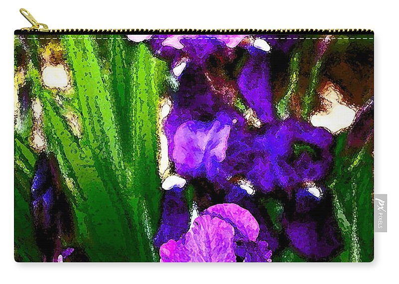 Floral Carry-all Pouch featuring the photograph Iris 21 by Pamela Cooper