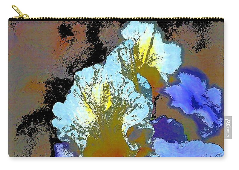 Floral Carry-all Pouch featuring the photograph Iris 41 by Pamela Cooper