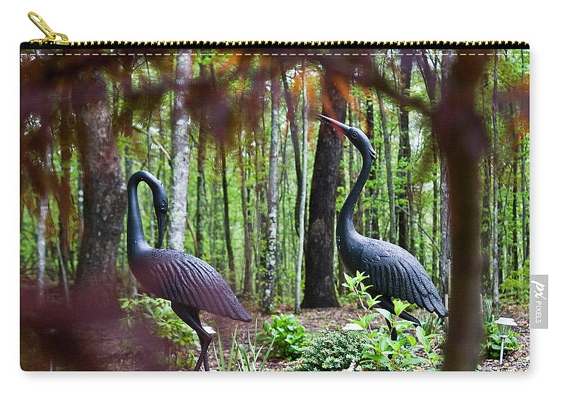 Iron Carry-all Pouch featuring the photograph Iron Crane Posing 2 by Douglas Barnett