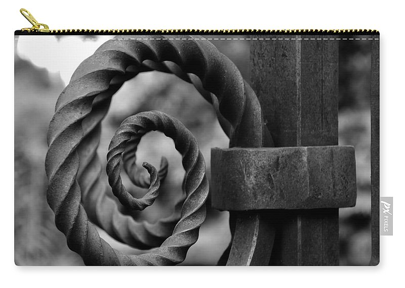 Fine Art Photography Carry-all Pouch featuring the photograph Iron Swirls by David Lee Thompson