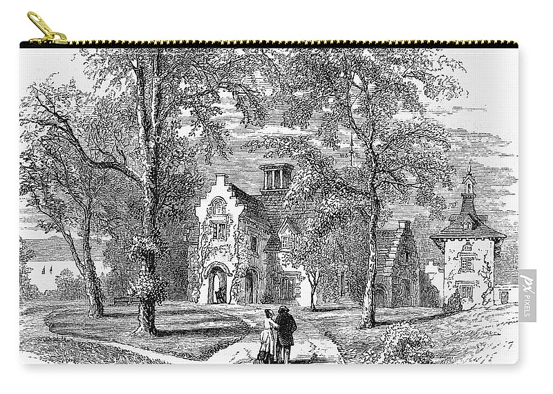 1876 Carry-all Pouch featuring the photograph Irving: Sunnyside by Granger