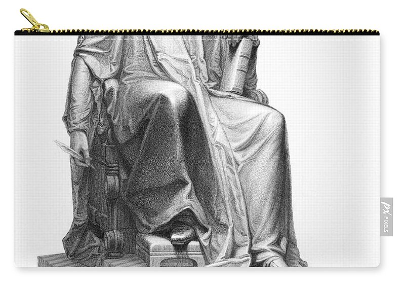 Aristocratic Carry-all Pouch featuring the photograph Isaac Barrow (1630-1677) by Granger