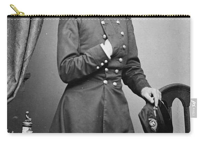 1861 Carry-all Pouch featuring the photograph Isaac Tucker (d.1861) by Granger
