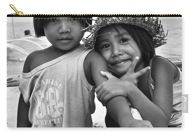 Yhun Suarez Carry-all Pouch featuring the photograph Island Kids by Yhun Suarez