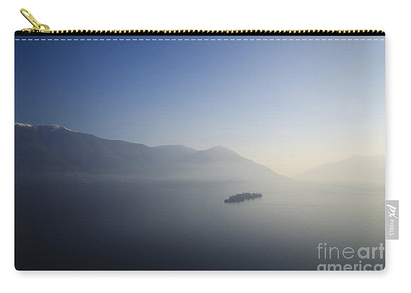 Islands Carry-all Pouch featuring the photograph Islands On A Lake With Mountain by Mats Silvan