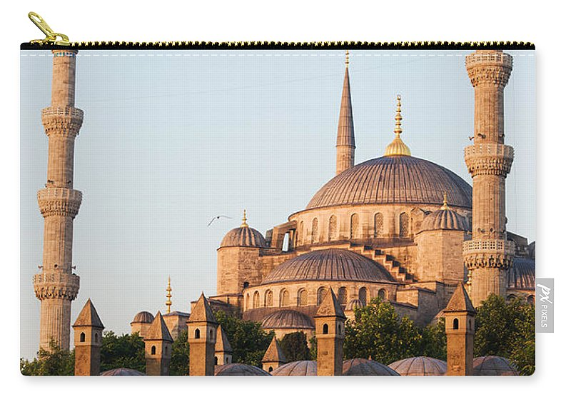 Blue Carry-all Pouch featuring the photograph Istanbul by Artur Bogacki