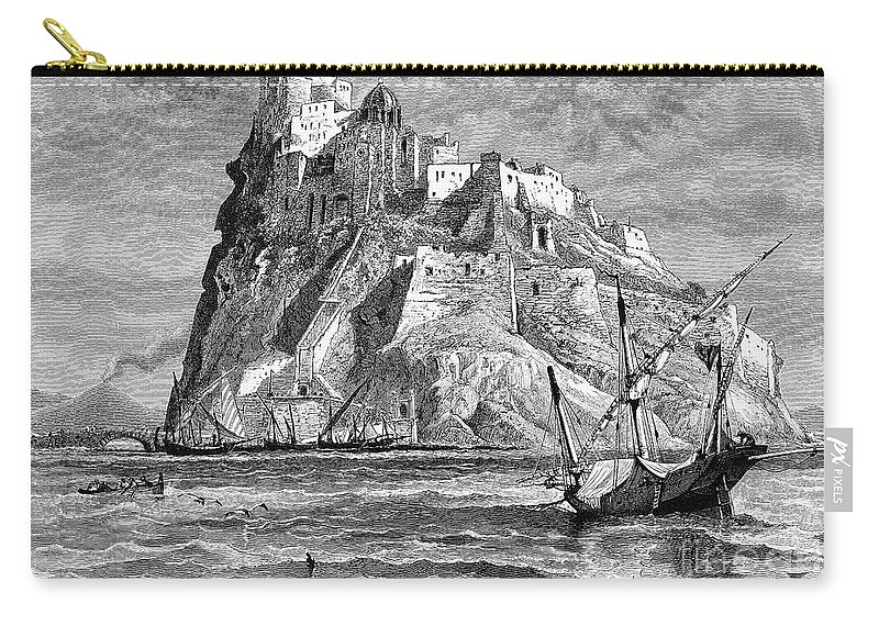 19th Century Carry-all Pouch featuring the photograph Italy: Castle Of Ischia by Granger