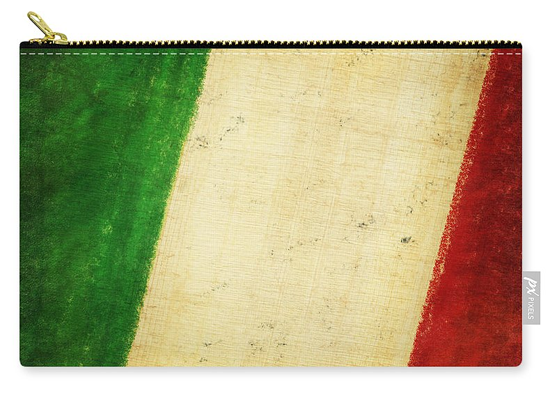Antique Carry-all Pouch featuring the photograph Italy Flag by Setsiri Silapasuwanchai