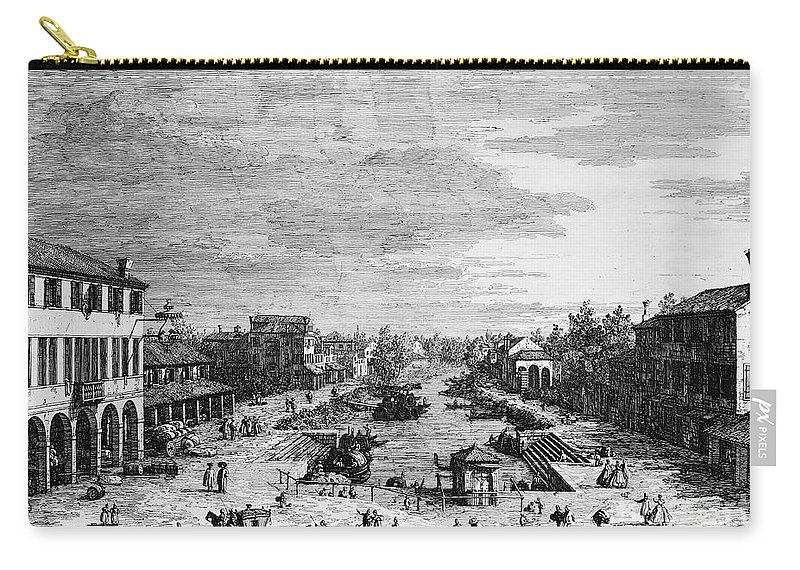 18th Century Carry-all Pouch featuring the photograph Italy: Mestre by Granger