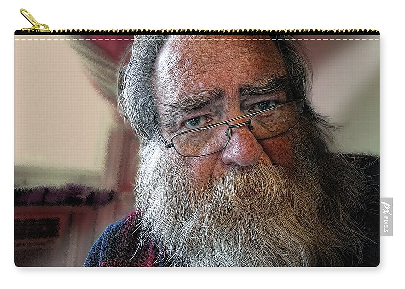 Acrylic Prints Carry-all Pouch featuring the photograph It's Never Nice To Be Me by John Herzog
