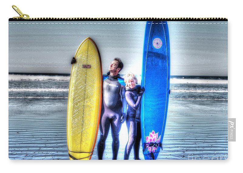 Surf Carry-all Pouch featuring the photograph It's Not A Dream by Jacklyn Duryea Fraizer