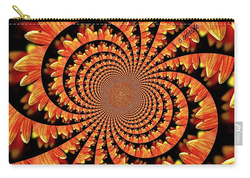 Abstract Carry-all Pouch featuring the photograph Jagged Petals by Chris Berry