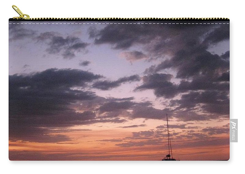 Sunset Carry-all Pouch featuring the photograph Jamaican Sunset by John Malone