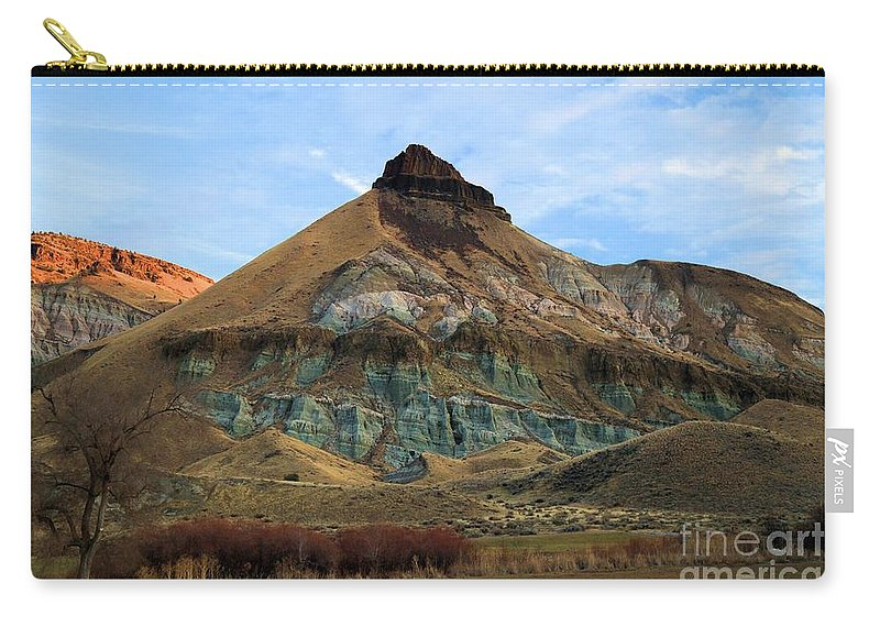 John Day Fossil Beds National Monument Carry-all Pouch featuring the photograph James Cant Hoodoos by Adam Jewell