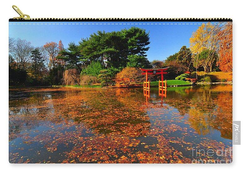 Bbg Carry-all Pouch featuring the photograph Japanese Garden Brooklyn Botanic Garden by Mark Gilman