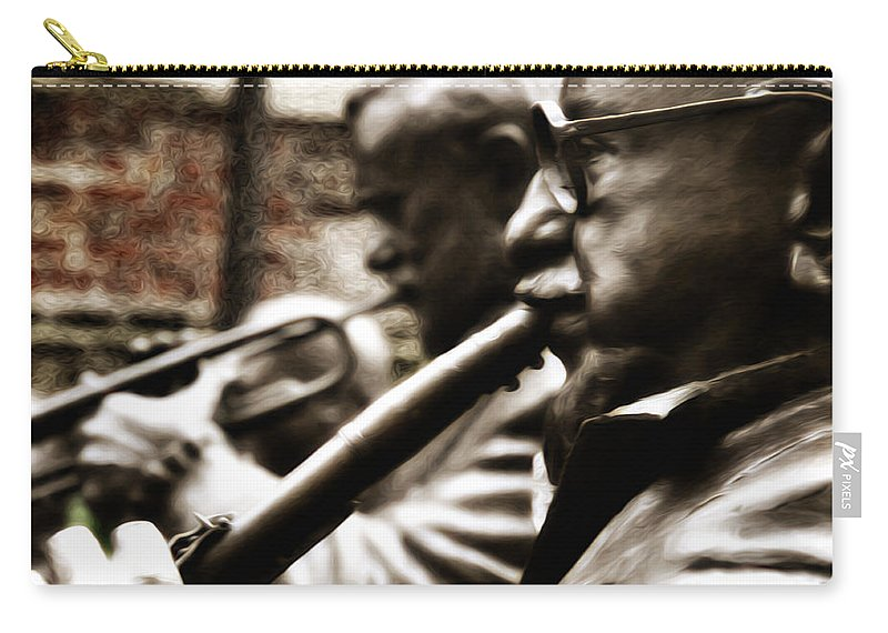Jazz Legends Al Hirt And Pete Fountain Carry-all Pouch featuring the photograph Jazz Legends Al Hirt And Pete Fountain by Bill Cannon