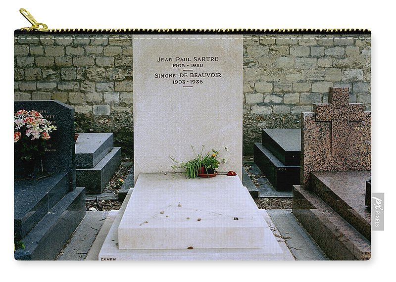 Sartre Carry-all Pouch featuring the photograph Jean Paul Sartre by Shaun Higson
