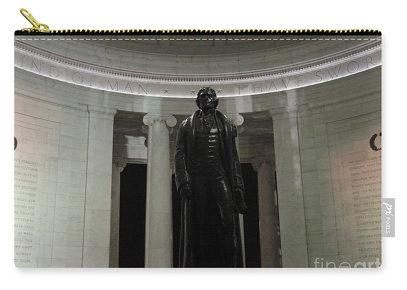 Jefferson Carry-all Pouch featuring the photograph Jefferson In The Dark by Meandering Photography
