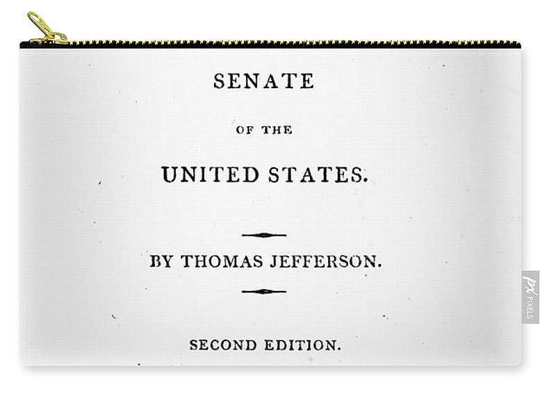 1810 Carry-all Pouch featuring the photograph Jefferson: Title Page, 1810 by Granger
