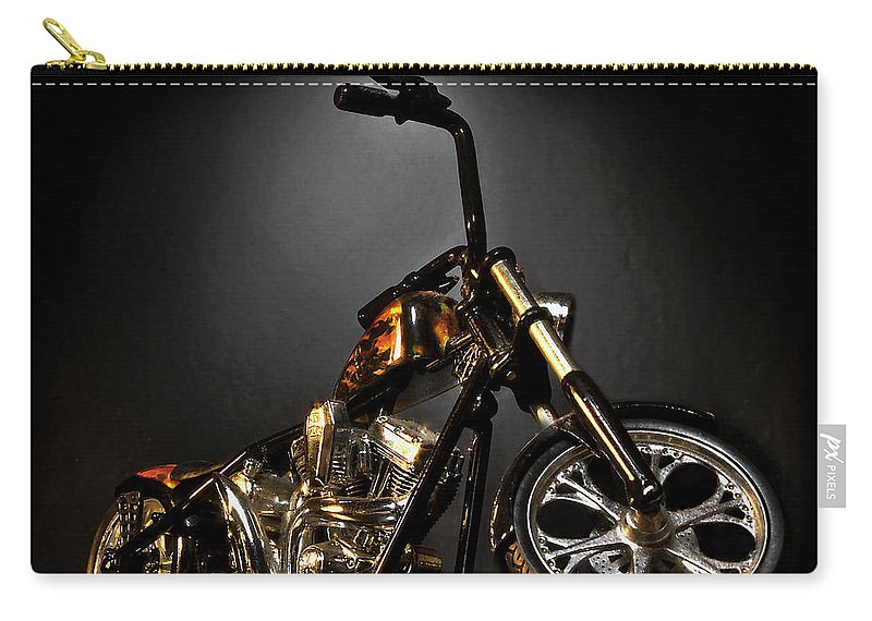 Carry-all Pouch featuring the photograph Jesse James Bike 2 Detroit MI by Nicholas Grunas