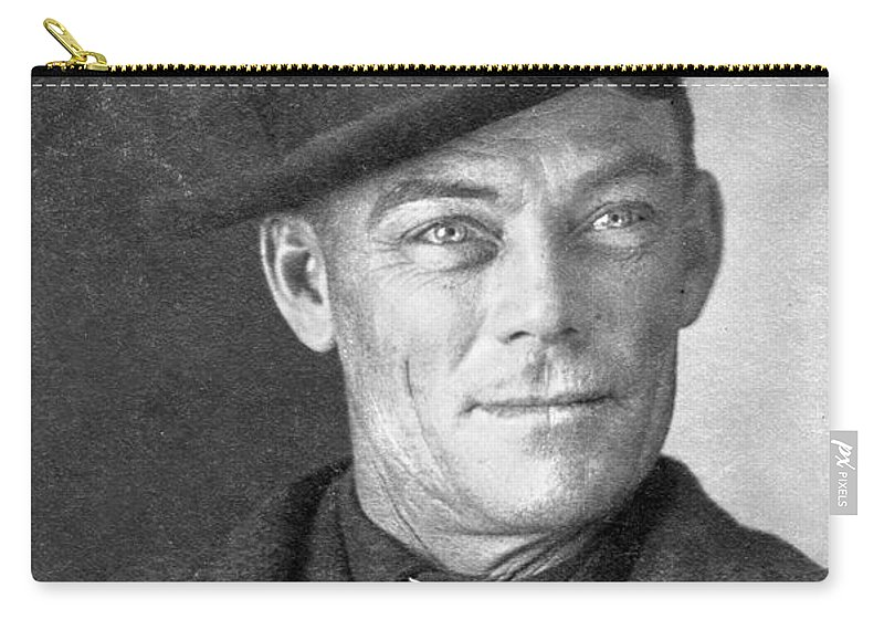 1902 Carry-all Pouch featuring the photograph Jesse Linsley (b.1868) by Granger