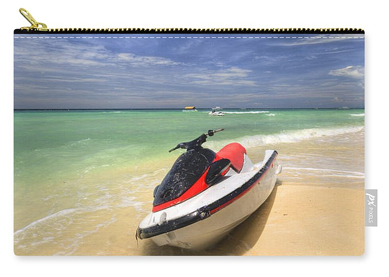 Yhun Suarez Carry-all Pouch featuring the photograph Jet Ski by Yhun Suarez
