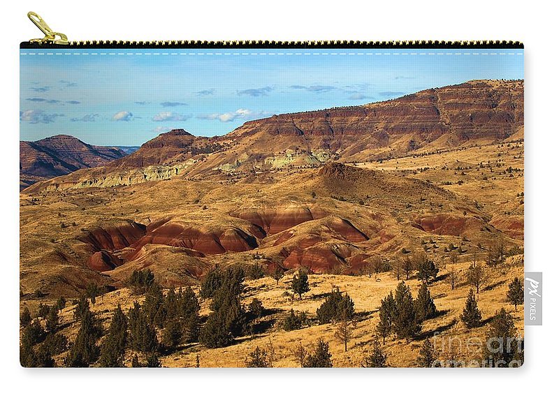 John Day Fossil Beds National Monument Carry-all Pouch featuring the photograph John Day Blue Basin by Adam Jewell