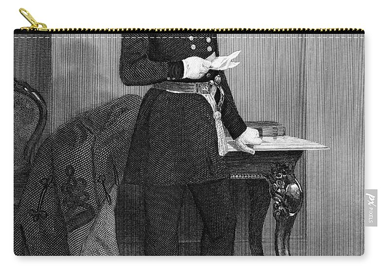 1859 Carry-all Pouch featuring the photograph John Ellis Wool (1784-1869) by Granger