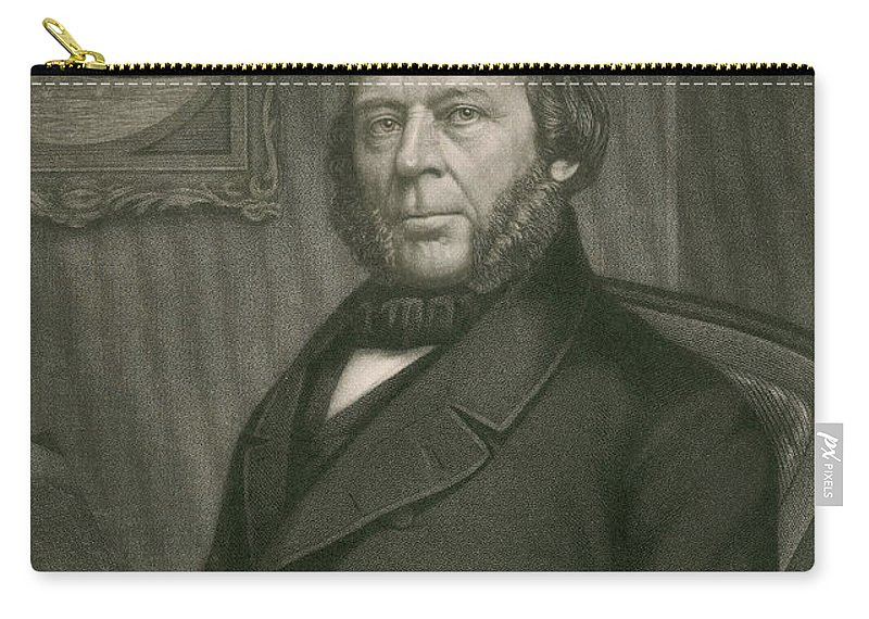 History Carry-all Pouch featuring the photograph John Ericsson, Swedish-american Inventor by Photo Researchers