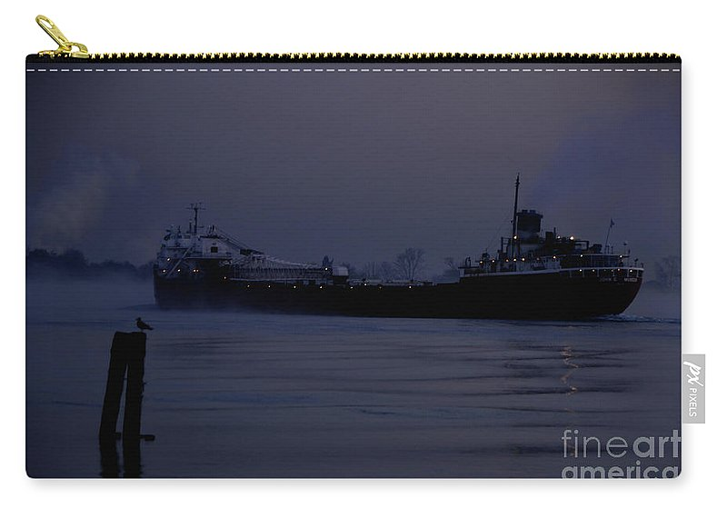 Ship Carry-all Pouch featuring the photograph John G Munson by Ronald Grogan