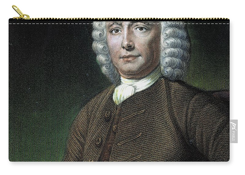 18th Century Carry-all Pouch featuring the photograph John Harrison (1693-1776) by Granger