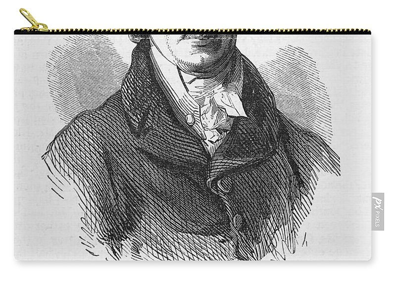 18th Century Carry-all Pouch featuring the photograph John Jacob Astor by Granger