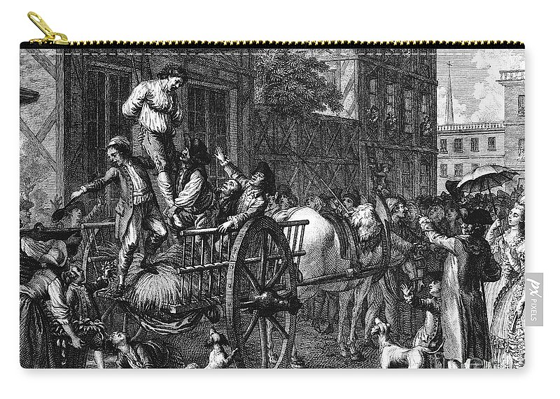 1774 Carry-all Pouch featuring the photograph John Malcom (d. 1788) by Granger