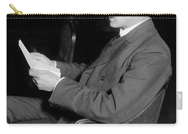 1916 Carry-all Pouch featuring the photograph John Masefield (1878-1967) by Granger